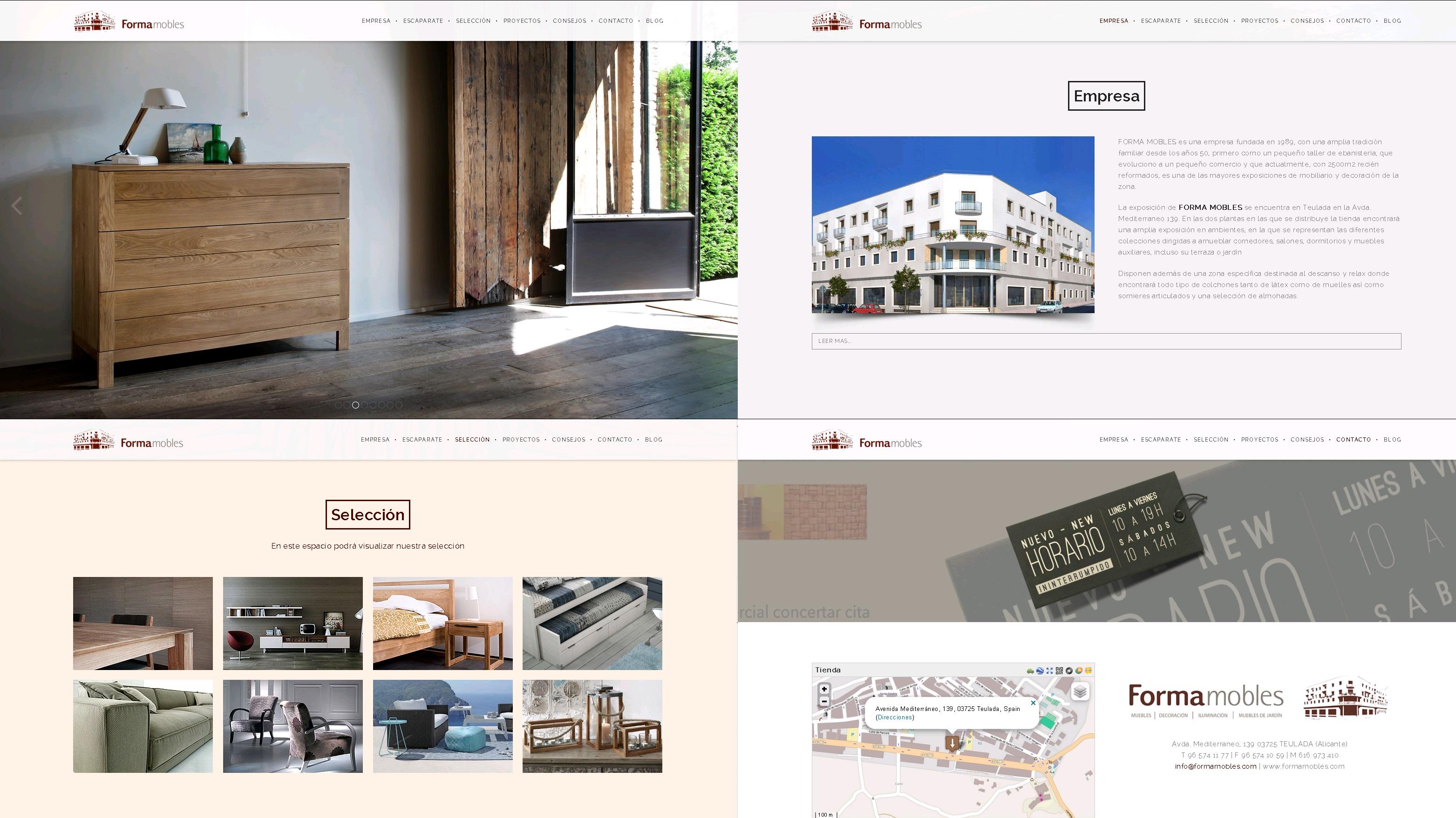 Estrenamos nuestra nueva p gina web muebles en teulada for Pagina web muebles